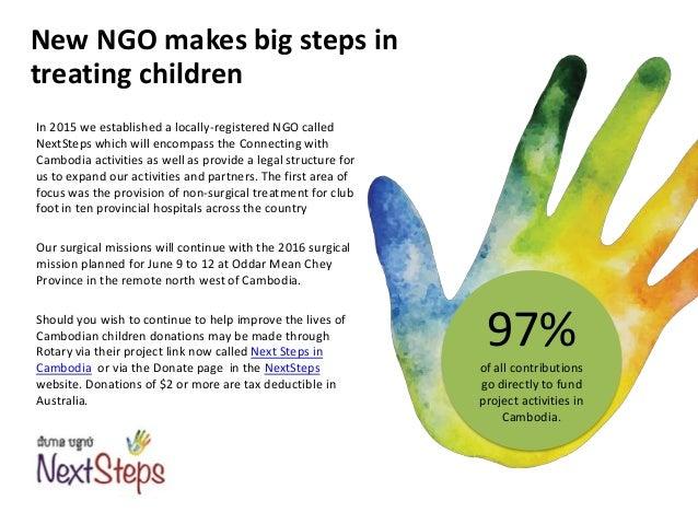 NextSteps NGO: Activity Report January 2016