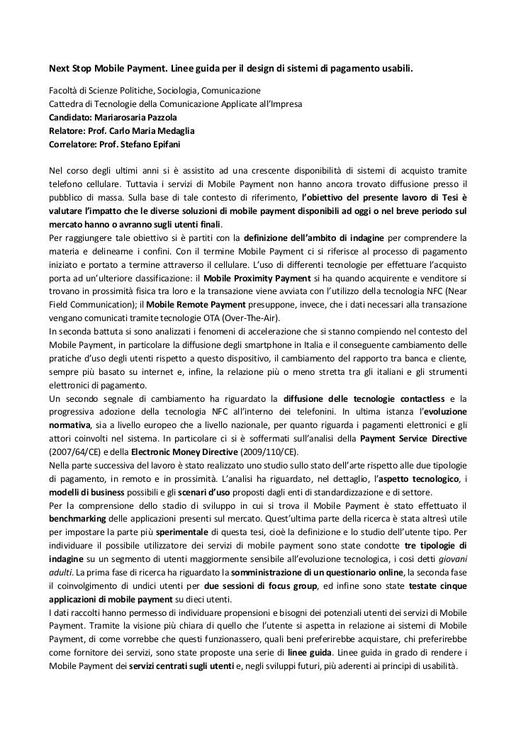 Next stop Mobile Payment (abstract)_Mariarosaria Pazzola