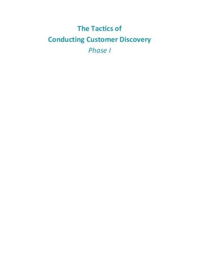 Customer Discovery Skills