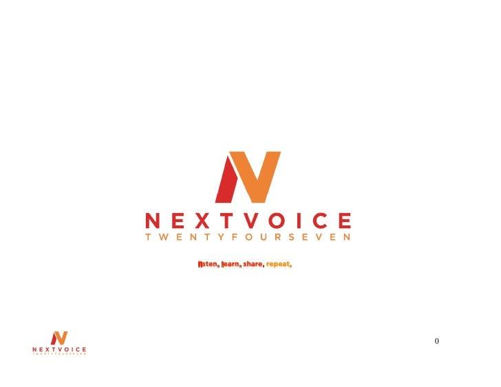 Nextvoice247 Slidesharelinkedin