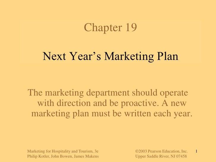 Next Year Marketing Plan
