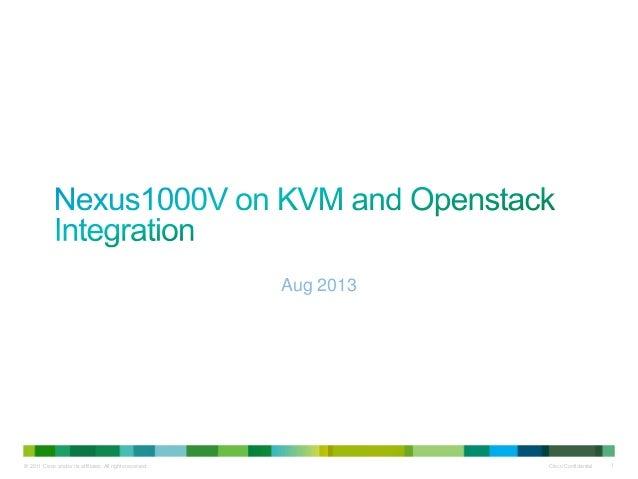 Nexus1000V on KVM and OpenStack Integration