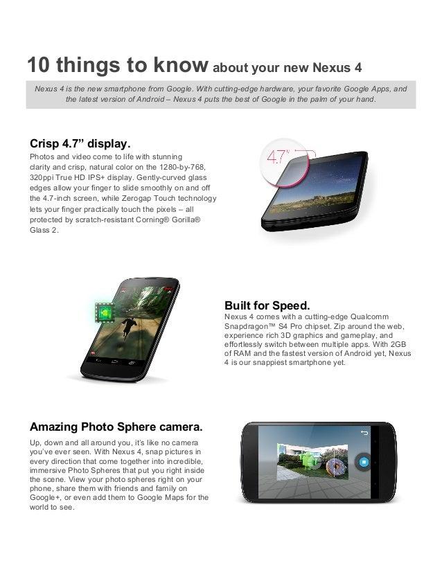 Nexus 4 reviewers guide
