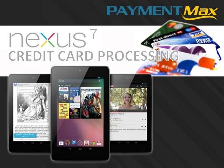 Nexus 7 tablet credit card app