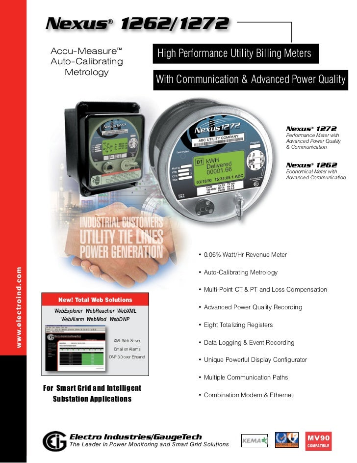 Nexus 1262/1272      ®                       Accu-Measure™                               High Performance Utility Billing ...