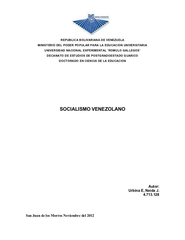 REPUBLICA BOLIVARIANA DE VENEZUELA       MINISTERIO DEL PODER POPULAR PARA LA EDUCACION UNIVERSITARIA           UNIVERSIDA...