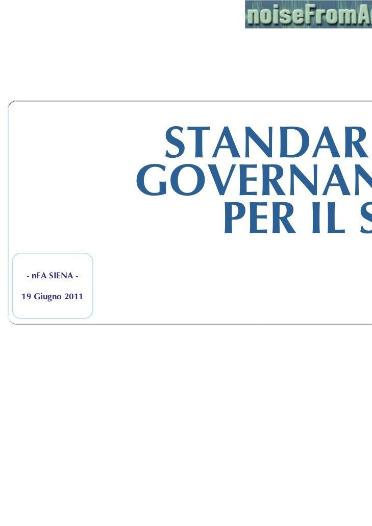 STANDARD E                 GOVERNANCE                    PER IL SSN - nFA SIENA -                           Nicola Salerno...