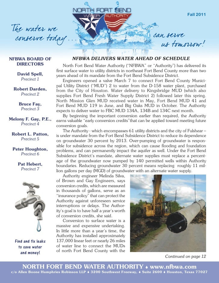 NFBWA Fall 2011 Newsletter
