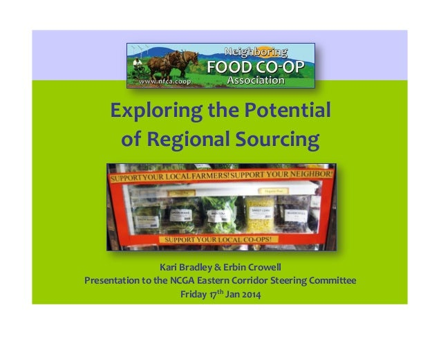 Exploring the Potential of Regional Sourcing