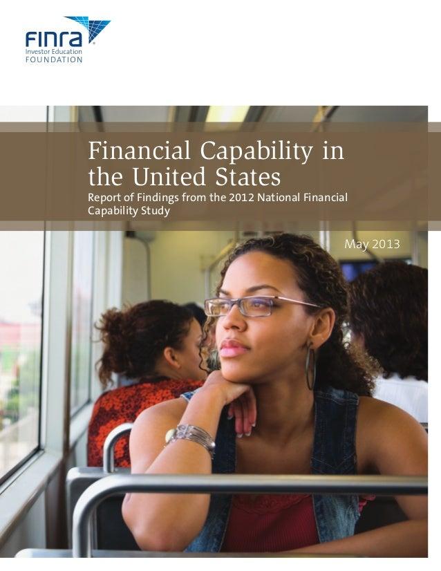 FINRA 2012 Financial Capability