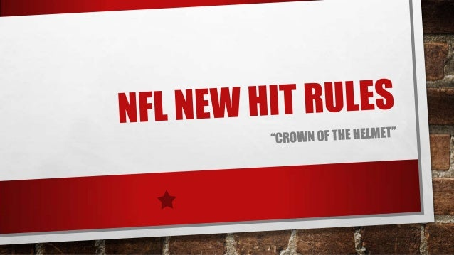 Nfl new hit rules power point