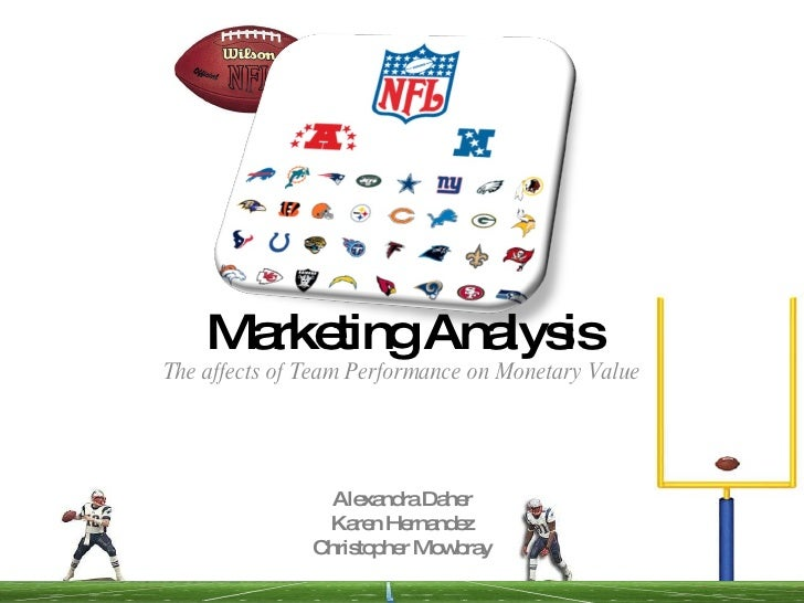 Marketing Analysis The affects of Team Performance on Monetary Value Alexandra Daher Karen Hernandez Christopher Mowbray