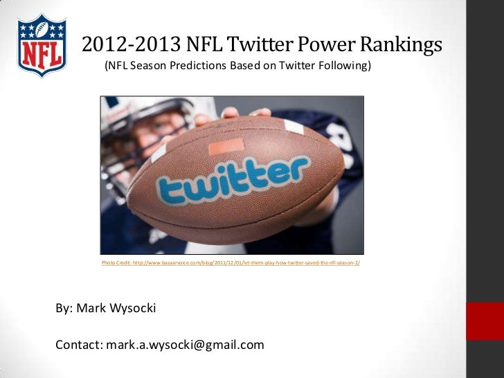 2012-2013 NFL Twitter Power Rankings