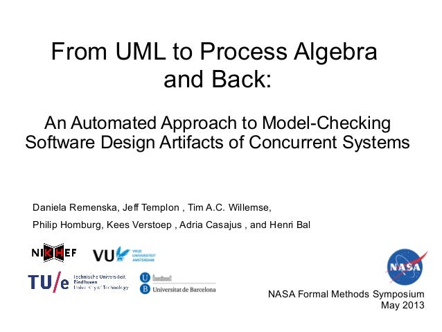 From UML to Process Algebraand Back:An Automated Approach to Model-CheckingSoftware Design Artifacts of Concurrent Systems...
