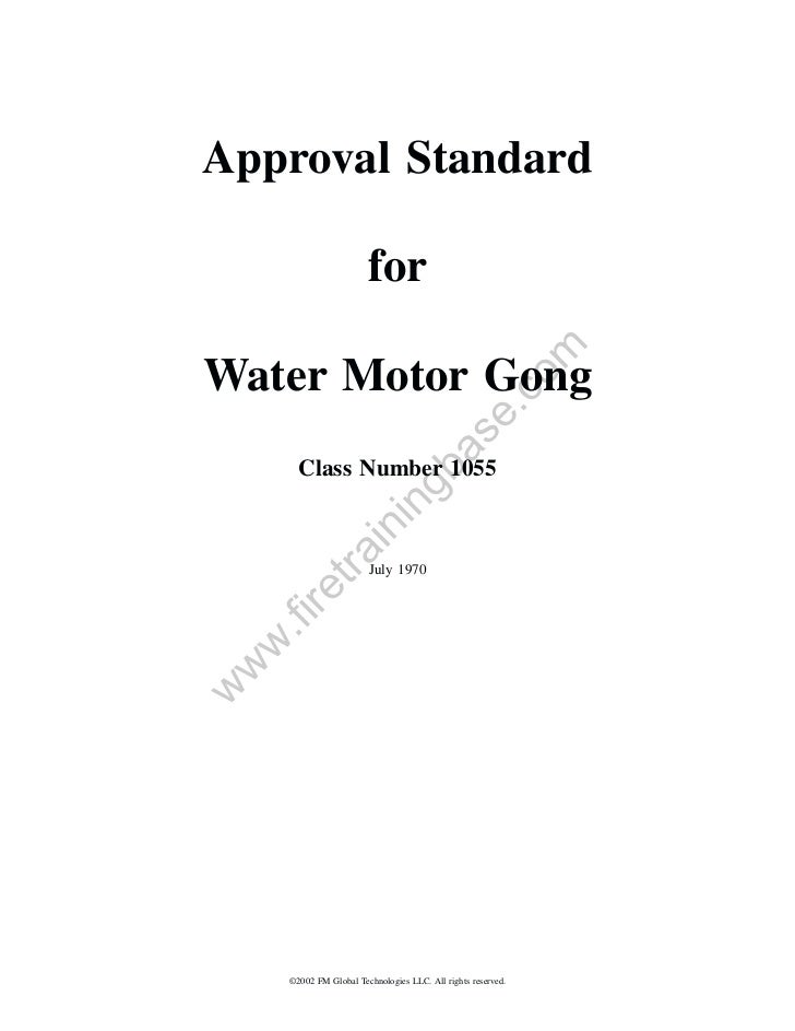 Approval Standard                        for                                                         omWater Motor Gong   ...