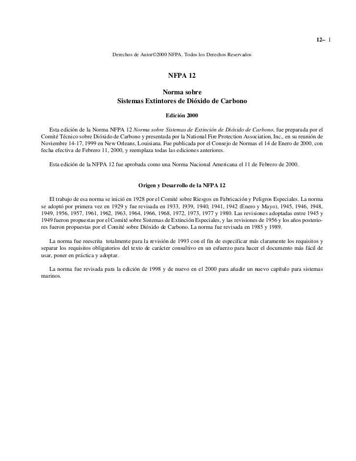 12– 1                              Derechos de Autor©2000 NFPA. Todos los Derechos Reservados                             ...