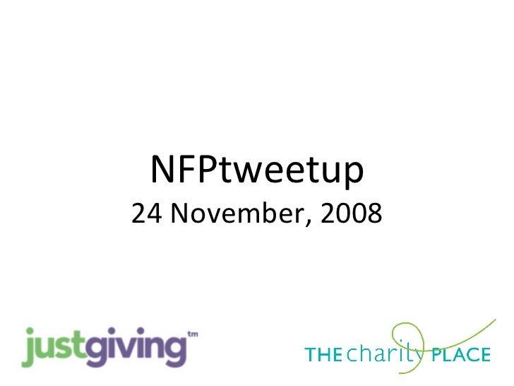 NFPtweetup Collaborative Slideshow 24 Nov 08