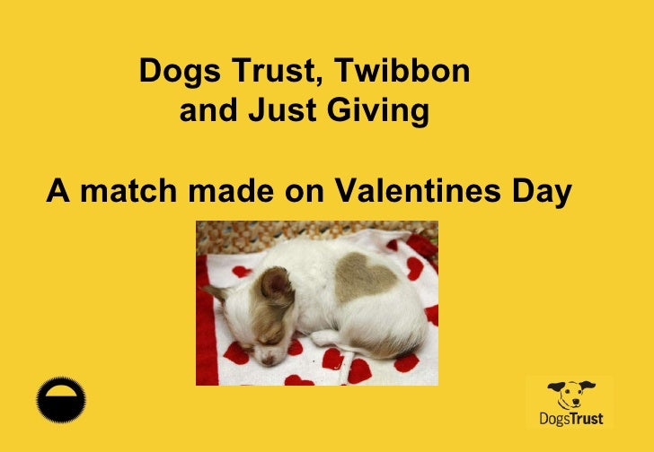 Dogs Trust, Twibbon  and Just Giving  A match made on Valentines Day