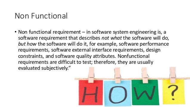 Non Functional Requirement