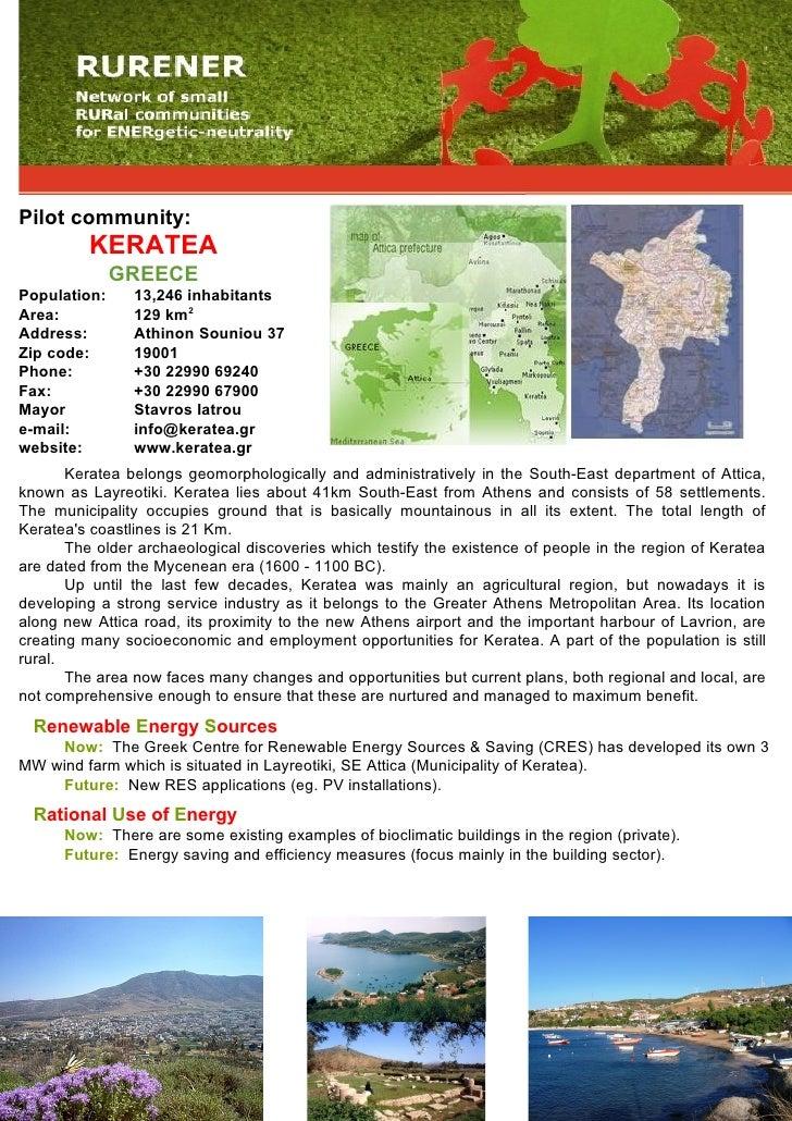 Pilot community:           KERATEA               GREECE Population:     13,246 inhabitants Area:           129 km2 Address...