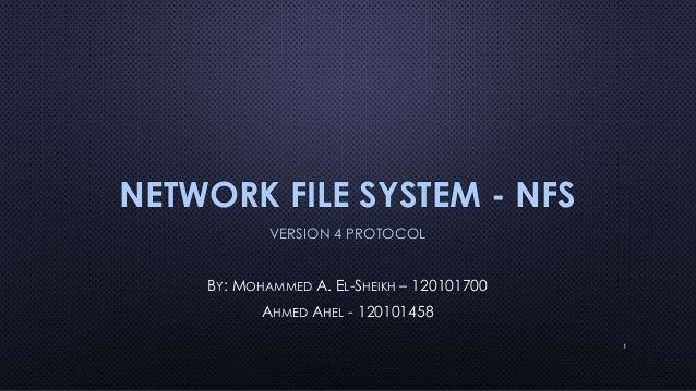 Nfs version 4 protocol presentation