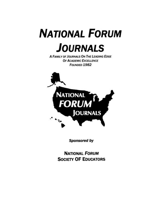 National FORUM of Teacher Education Journal,  Dr. William Allan Kritsonis, Editor, www.nationalforum.com,  NATIONAL FORUM ...