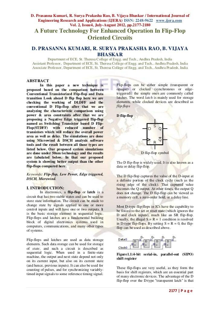 D. Prasanna Kumari, R. Surya Prakasha Rao, B. Vijaya Bhaskar / International Journal of      Engineering Research and Appl...
