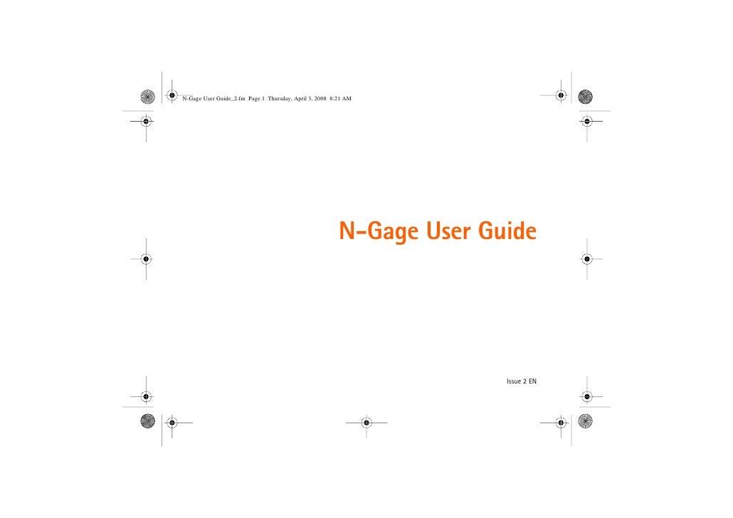 N-Gage User Guide                   Issue 2 EN
