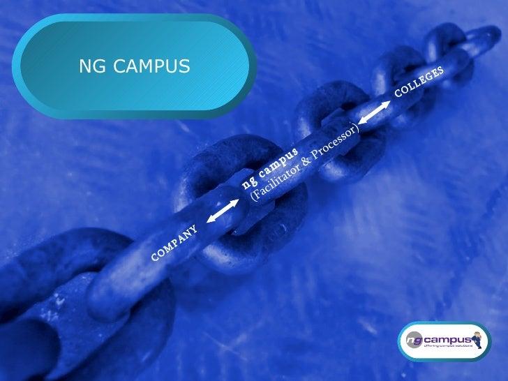 NG CAMPUS COLLEGES ng campus (Facilitator & Processor) COMPANY