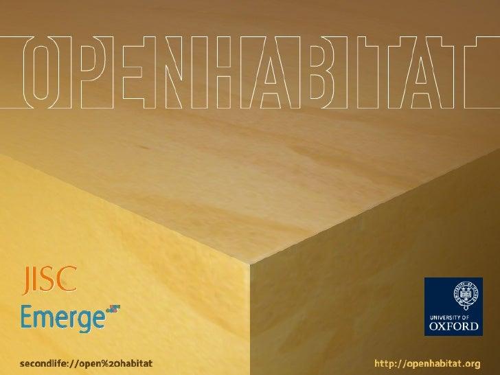 Open Habitat for NGEii
