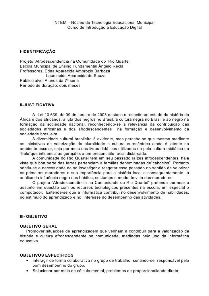 NTEM – Núcleo de Tecnologia Educacional Municipal                        Curso de Introdução à Educação DigitalI-IDENTIFIC...