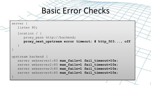 Backend Server Error Basic Error Checks Server