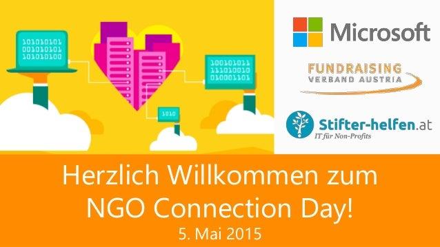 Herzlich Willkommen zum NGO Connection Day! 5. Mai 2015