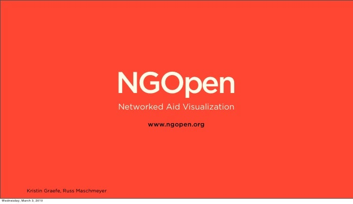 NGOpen                                                 Networked Aid Visualization                                        ...