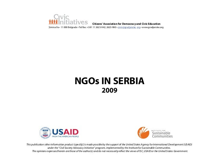 NGO Sector in Serbia 2009