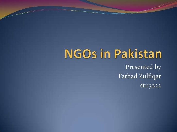 NGOs in pakistan