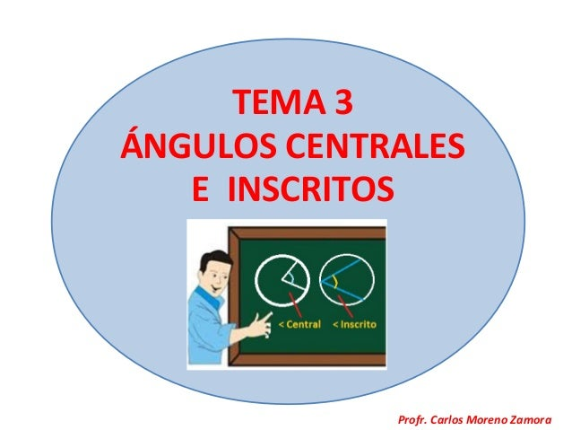 TEMA 3ÁNGULOS CENTRALES   E INSCRITOS             Profr. Carlos Moreno Zamora