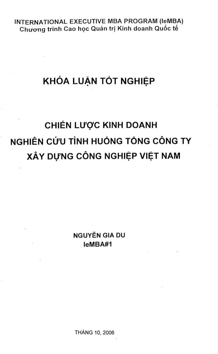 INTERNATIONAL EXECUTIVE MBA PROGRAM (leMBA)  ChiFcyng trinh Cao hoc Quan trj Kinh doanh Qu6c te        KHOA LUAN TOT NGHIE...