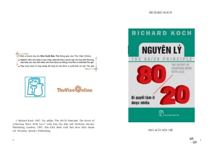 RICHARD KOCH                                                                         NGUYÏN LYÁ   © Richard Koch 1997. Taá...