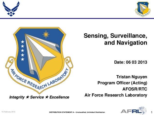 Nguyen - Sensing, Surveillance and Navigation - Spring Review 2013