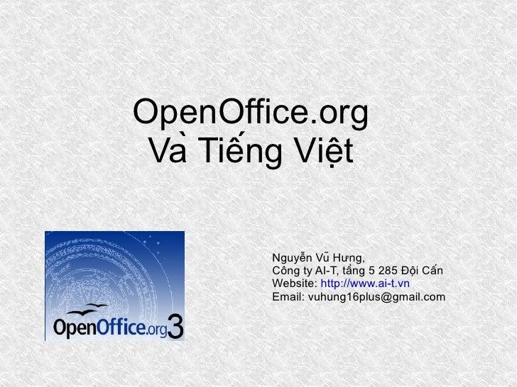 Nguyen Vu Hung: Giới thiệu OpenOffice.org Tiếng Việt tại Đại Học Sư Phạm