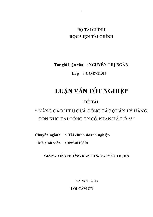 Nguyễn thị ngân lv tài chính doanh nghiệp