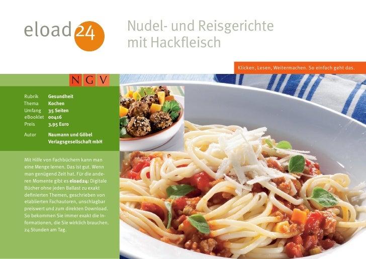 eload 24                                  Nudel- und Reisgerichte                                          mit Hackfleisch...