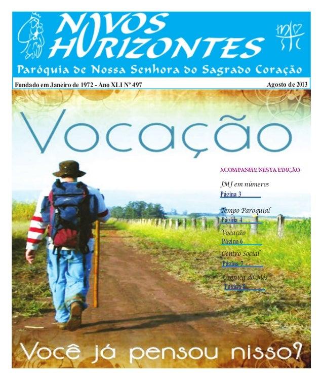 jornal Novos Horizontes agosto de 2013