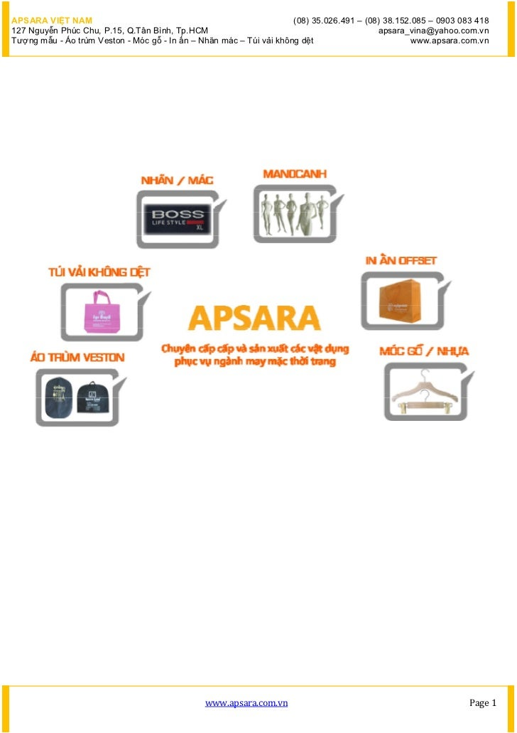APSARA VIỆT NAM                                                      (08) 35.026.491 – (08) 38.152.085 – 0903 083 418127 N...