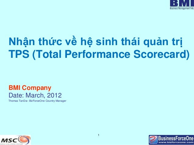 Nhận thức về hệ sinh thái quản trịTPS (Total Performance Scorecard)BMI CompanyDate: March, 2012Thomas TanDa– BizForceOne C...