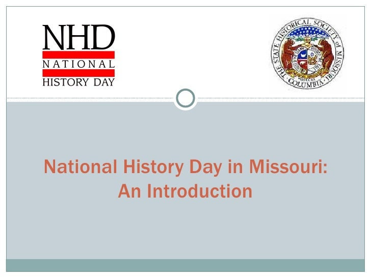National History Day in Missouri: An Introduction