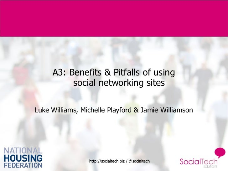 A3: Benefits & Pitfalls of using  social networking sites Luke Williams, Michelle Playford & Jamie Williamson