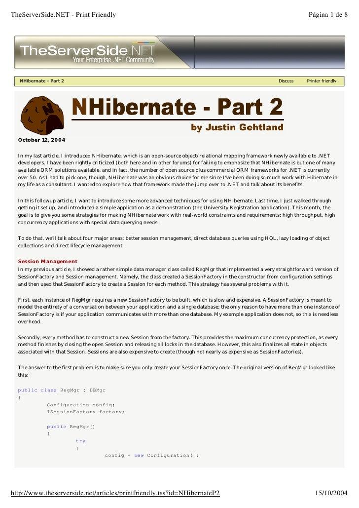 Nhibernate   Part 2