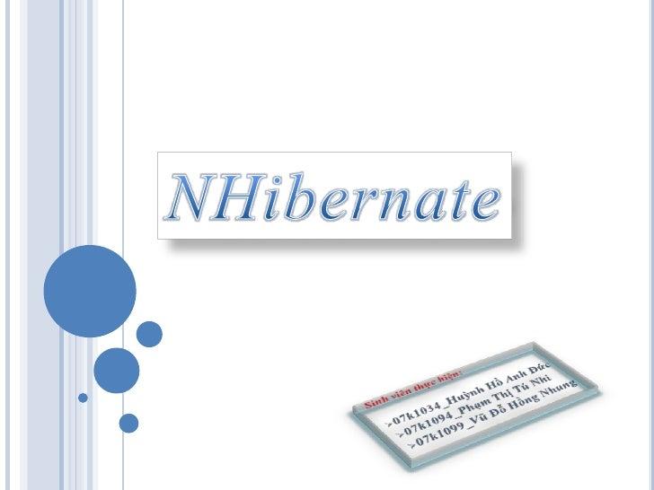 Nhibernate -Co ban